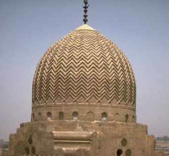 One of the mausoleum's great stone domes