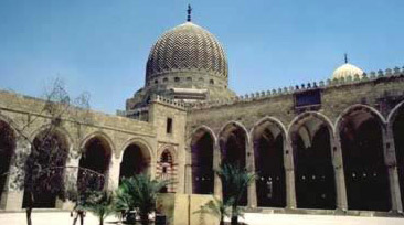 Another view of the courtyard in the direction of one of the mausoleum domes