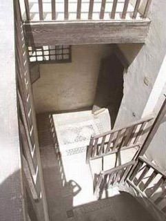 One of the House staircases leading to the roof.