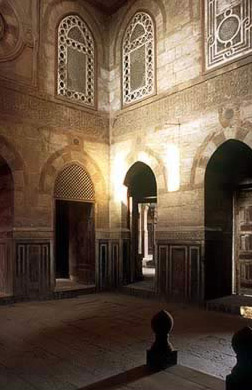 Interior of the mosque prayer hall
