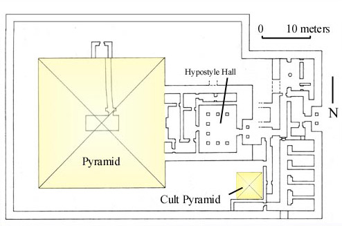 Plan of the Pyramid of Khentkaues II at Abusir in Egypt