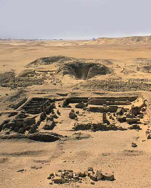 The pyramid of Khentkaues II and its mortuary temple at Abusir