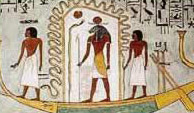 Khnum on his Barque