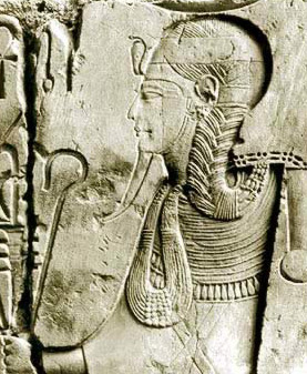 Khonsu on a relief in his temple at Karnak