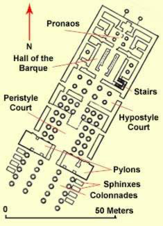 Plan of the Temple of Khonsu at Karnak