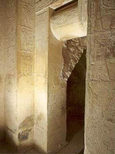 Doorway to the burial chamber