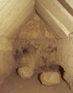 The burial chamber, which is probably a latter addition