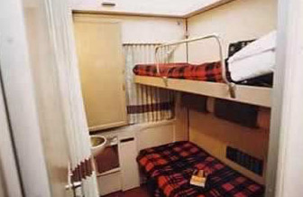 Inside a sleeper compartment