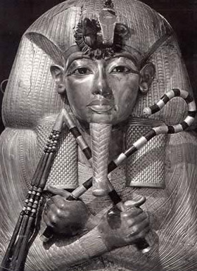 King Tut in death as Osiris