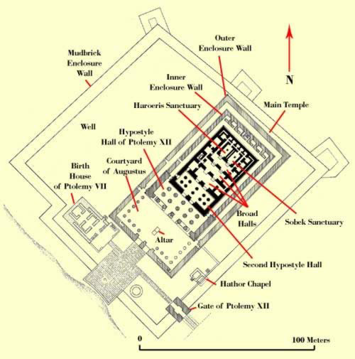 Plan of the Temple Complex at Kom Ombo