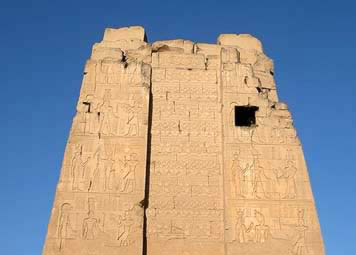 All that is left of the ancient Pylon at Kom Ombo