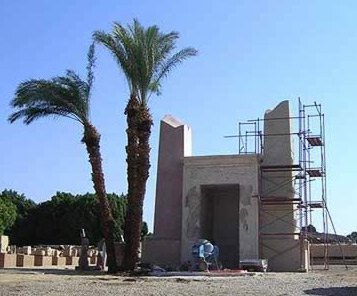 The Amenhotep II Chapel in the Open Air Museum at Karnak, Luxor Egypt