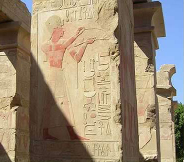 Detail of Tuthmosis IV temple in the Open Air Museum at Karnak