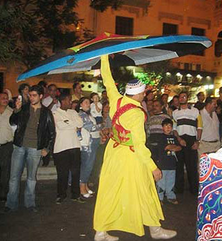 Whirling Dervish in the Streets of Korba