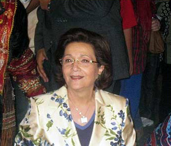 First Lady Suzanne Mubarak, always a favorite for her work with children and women's rights in Egypt