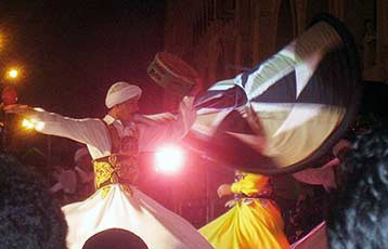 The Whirling Dervish do their dance