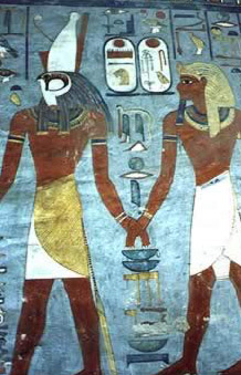 Re-Horakhty leads Ramesses VII