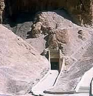 The entrance to KV19 in the Valley of the Kings