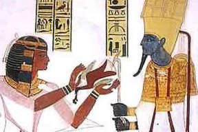 Mentuherkhepshef making offerings to Amun