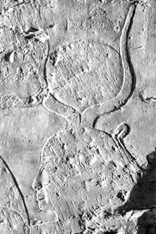 A relief depicting Hathor from Corridor 7