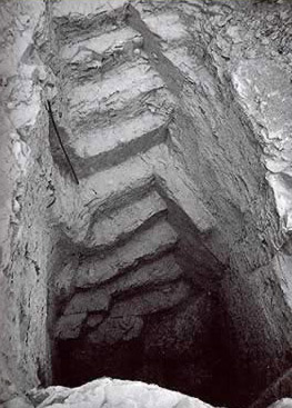 Stairway leading down to Tomb KV 60 in the Valley of the Kings