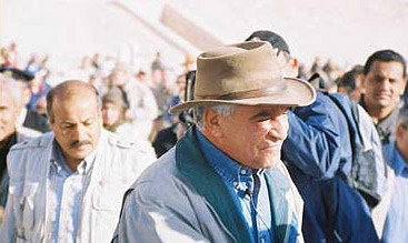 Dr Hawass arrives at the site with my neighbour and friend Ibrahim Soliman, Director of Karnak SCA in the background