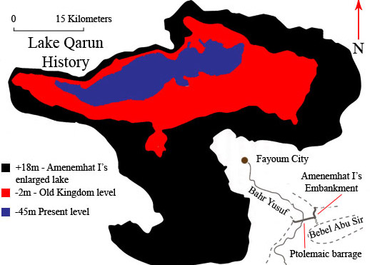 Historical Map of Lake Qarun