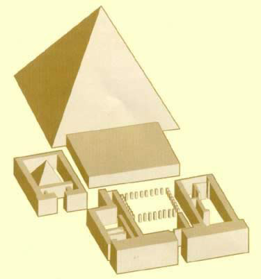 Drawing of the proposed pyramid complex of Ahmose