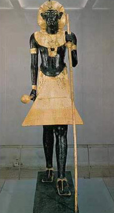 Life-Size Wooden Statue of the King