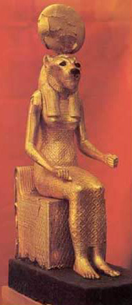 Seated Statuette of Leonine Goddess