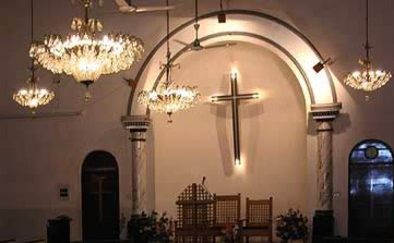 The main hall of the Shoubra Anglican Church
