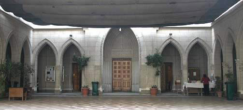 Entrance to the Kaser el-Doubara Anglican Church
