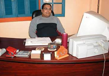 Ahmed, our Cairo manager in our office in Heliopolis