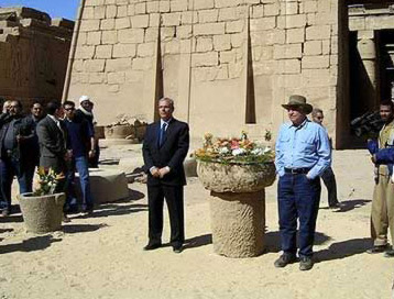 Ceremony for the return of Ramesses I in Luxor with Dr. Zahi Hawass