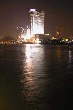 View from the upper deck of the Nile Crystal