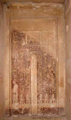 A False door in one of the tombs