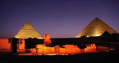 Giza  Pyramids and Sphinx, photo by Carol Mandel