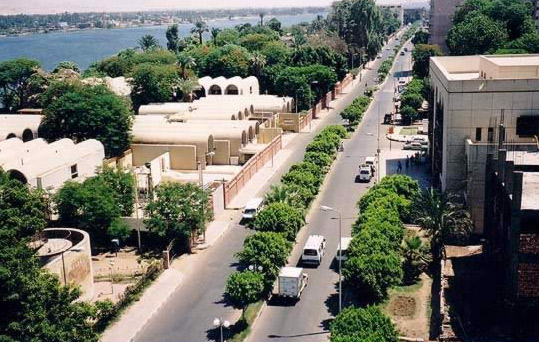 A View of Luxor from the Top of the St. Joseph Hotel