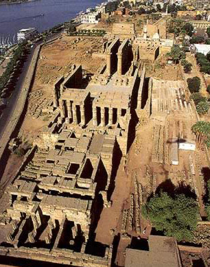 View of the Temple complex from the South