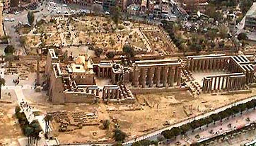 Another aerial view of the Temple of Luxor