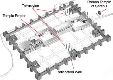 The Luxor Temple as it might have appeared during the Roman Period