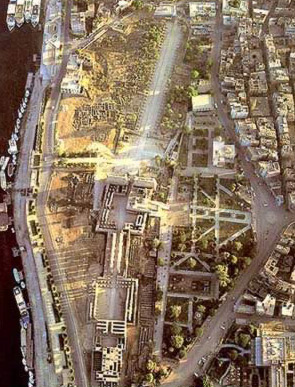 A view of the Temple Complex from directly above