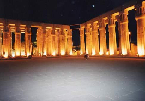 Another View of the Luxor Temple At Night