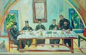 At the monastery table