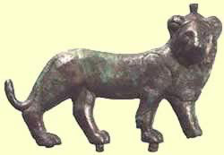 A Ptolemaic Bronze Inlay of Maahes' Sacred Animal, Found at Maahes' Temple at Leontopolis