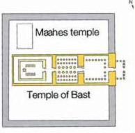 Layout of the Maahes Temple at the Temple of Bast in Per-Bast