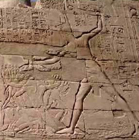 Seti 1 Smiting the enemies of Egypt