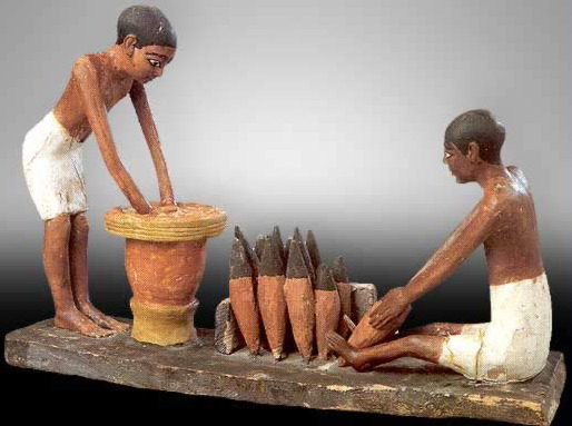 Model Depicting the Preparation of Bread and Beer