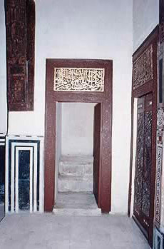 Detail of a doorway found in the main Harem Qa'a.