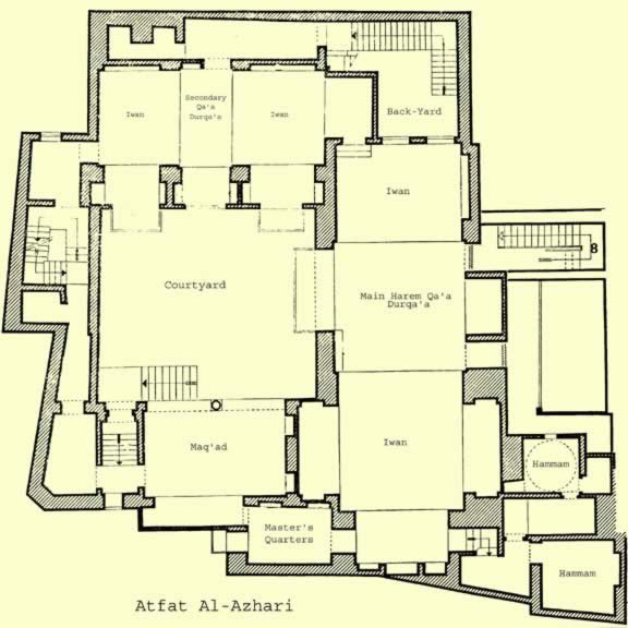 First floor architectural plan of Manzil Zeinab Khatoun.